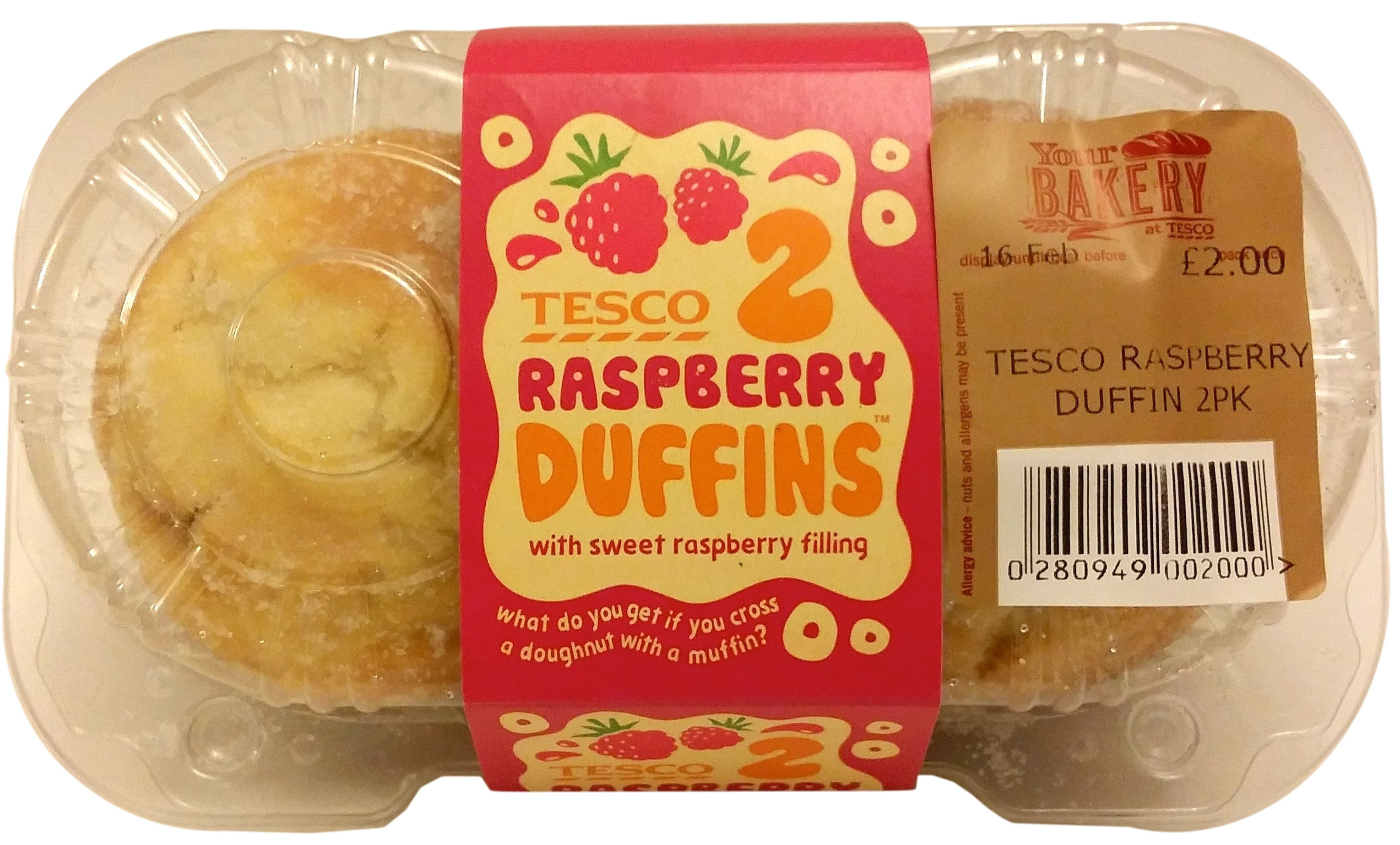 Tesco's raspberry duffins