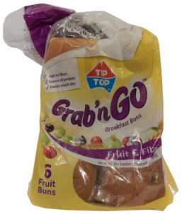 Tip Top Grab'n Go Fruit & Fibre Breakfast Buns