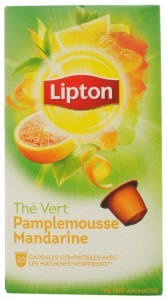 Lipton Grapefruit & Mandarin Green Tea Capsule