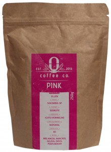 Pink coffee beans, Origem Coffee Co., Brazil