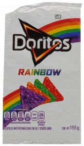 Lemon Flavored Corn Chips with Salt, Doritos Rainbow, Mexico