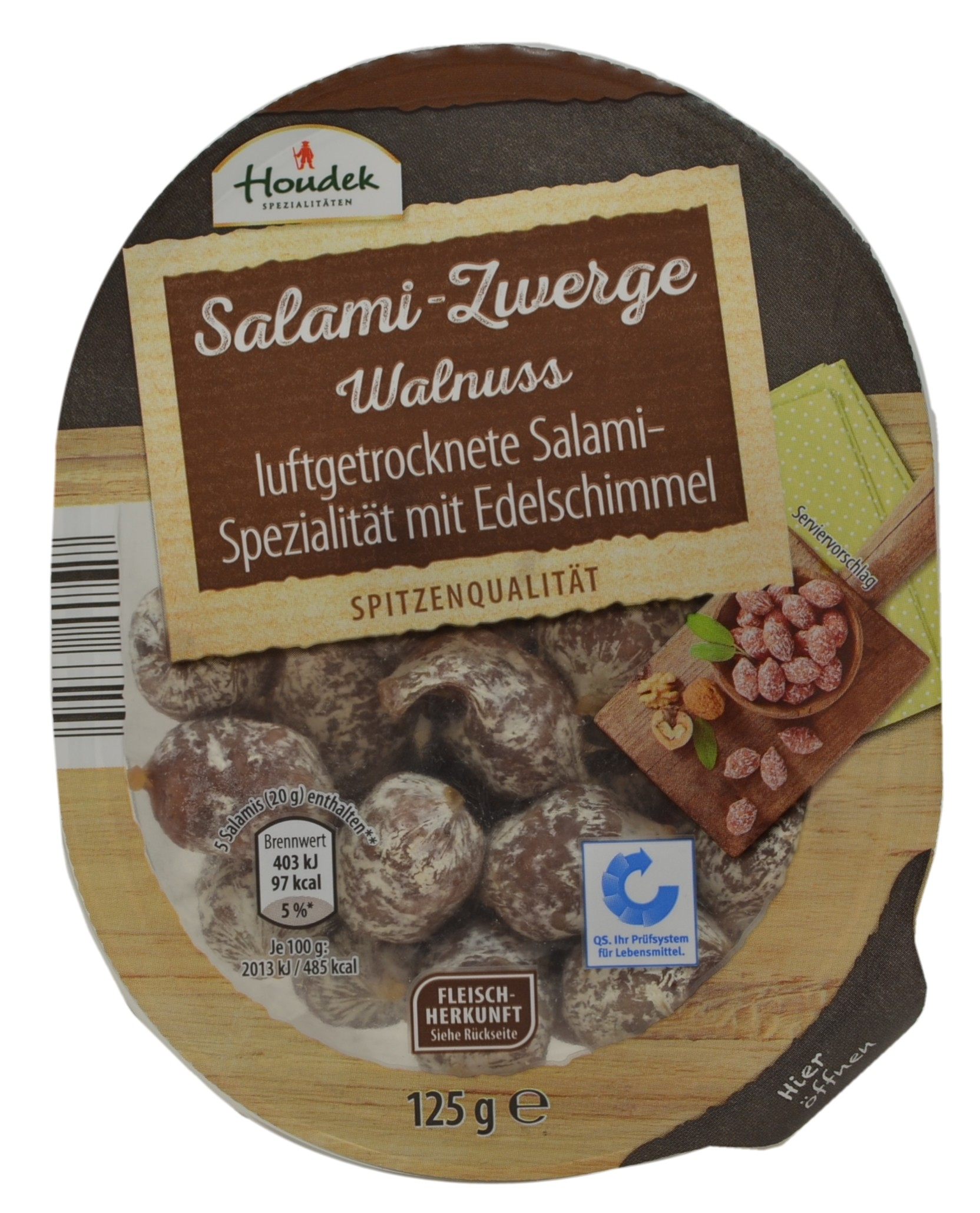 Air-Dried Salami with Walnuts
