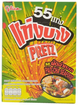 Glico Pretz, Pad-Cha Seafood Flavoured Thin Sticks