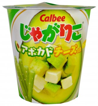 Avocado Cheese Potato Stick Snack, Calbee Jagariko, Japan