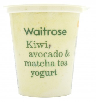 Waitrose Kiwi, Avocado & Matcha Tea Yogurt, UK