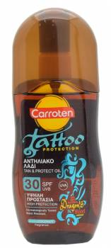 Tattoo sunscreen: Carroten Tattoo Protection Tan & Protect Oil SPF 30 SPF 30, Czech Republic