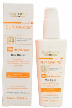 Visible lights: Biomarine Anti-Ageing and Sunscreen SPF 80 PPD 27, Brazil