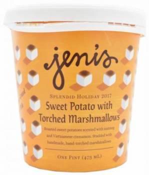 Jeni's Sweet Potato with Torched Marshmallows Ice Cream